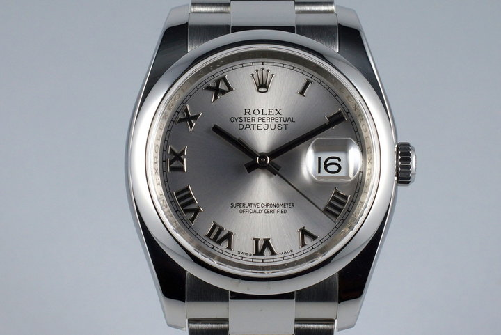 2005 Rolex Datejust 116200 Silver Roman Numeral Dial photo