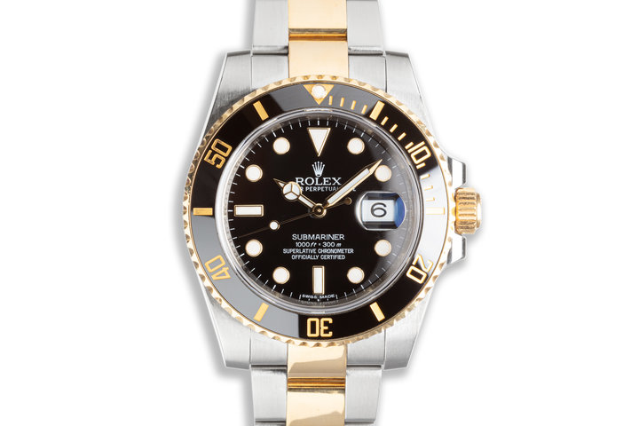 Rolex Rolesor Submariner 116613LN with Box & Card photo