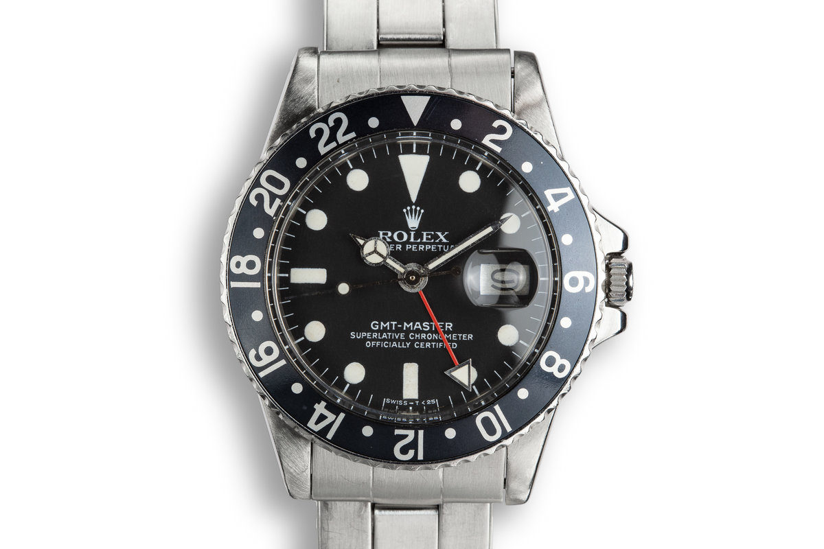 1978 Rolex GMT-Master 1675 Black Bezel with Service Papers photo, #0