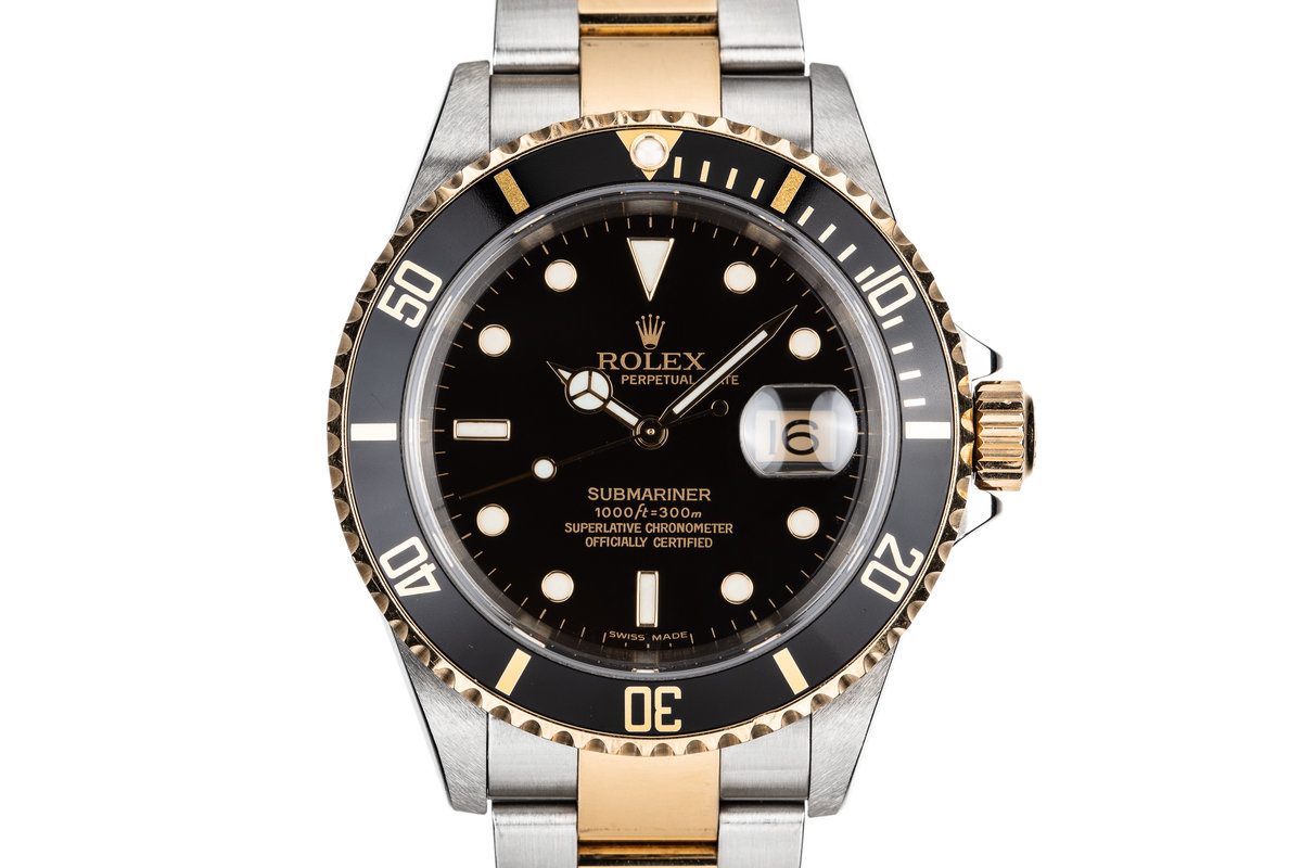 2005 Rolex Two-Tone Submariner 16613 with Box and Papers photo, #0