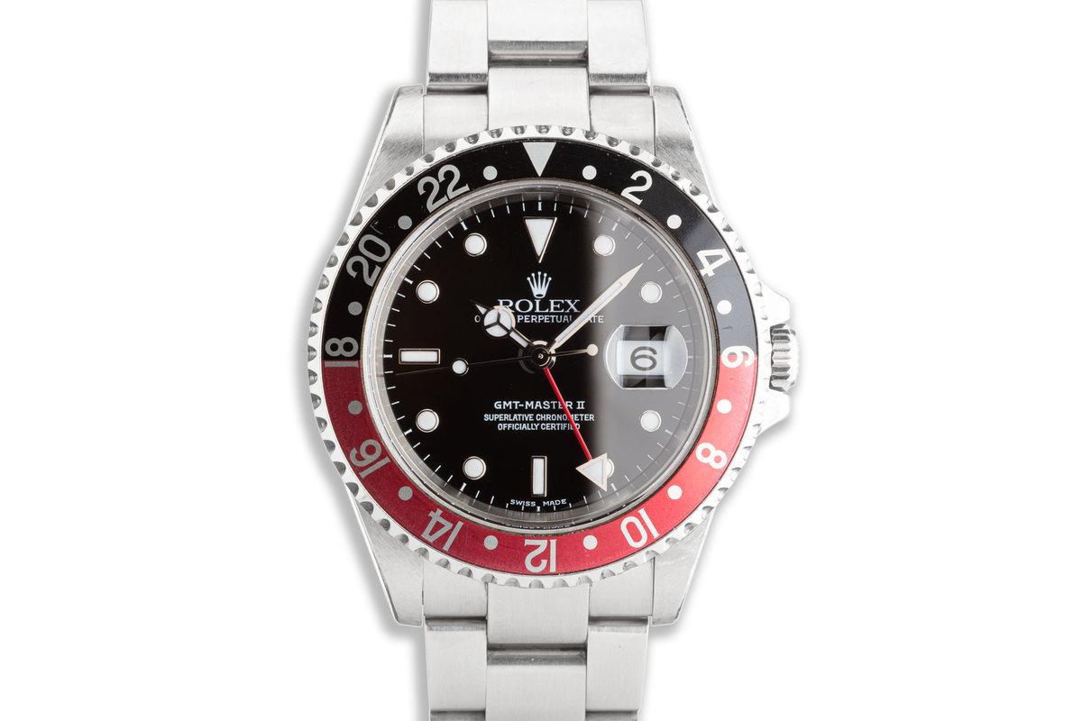 """2002 Unpolished Rolex GMT-Master II 16710 """"Coke"""" Bezel photo, #0"""