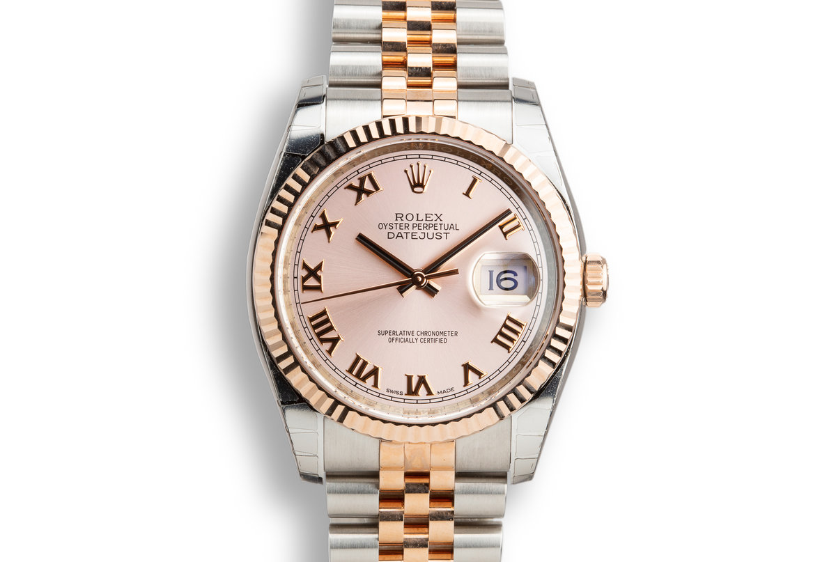 Mint 2018 Rolex Two-Tone Rose Gold and Stainless steel DateJust 116231 Rose Dial with Box and Papers photo, #0