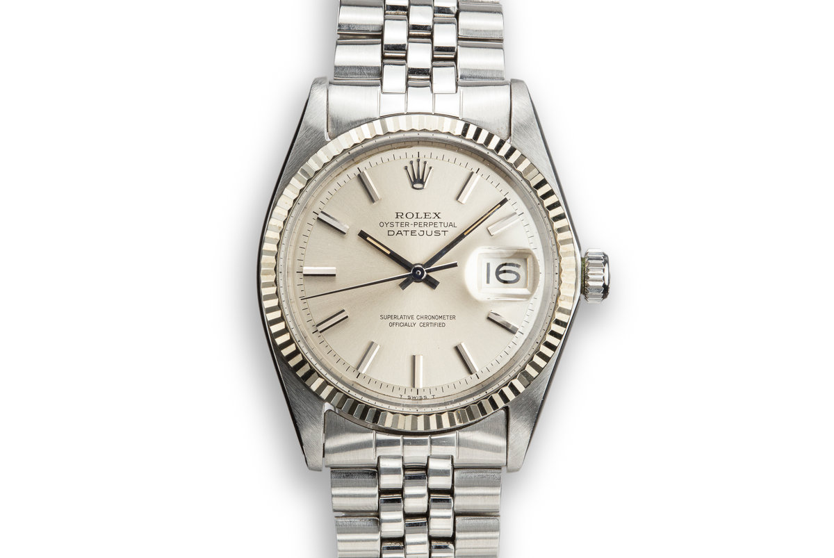 1968 Rolex DateJust 1601 No Lume Silver Dial photo, #0