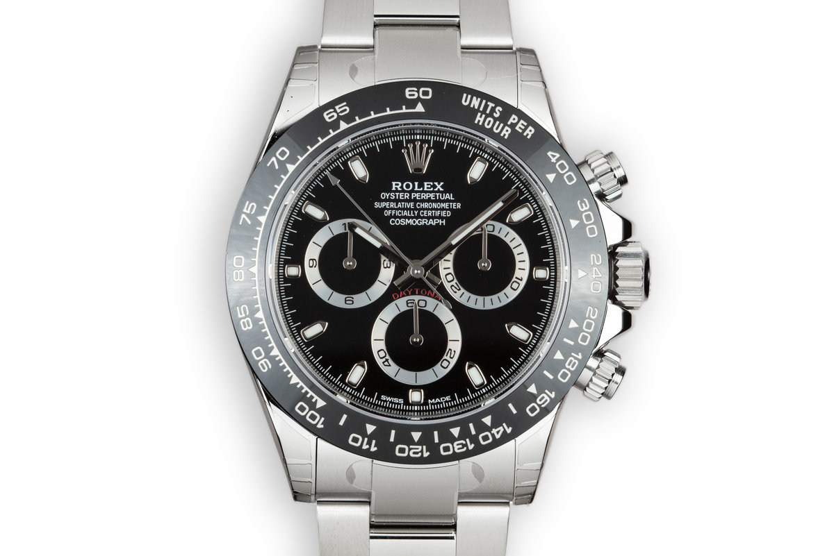 Mint 2017 Rolex Ceramic Daytona 116500LN Black Dial with Box and Papers photo, #0
