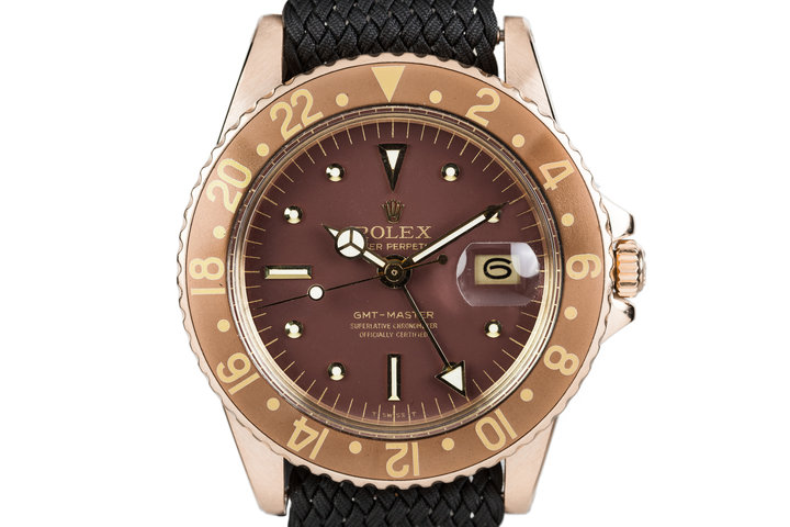 1970 Rolex 18K GMT-Master 1675 with Root Beer Dial photo