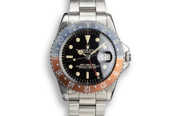 1963 Rolex PCG GMT-Master 1675 Underline Gilt Dial photo
