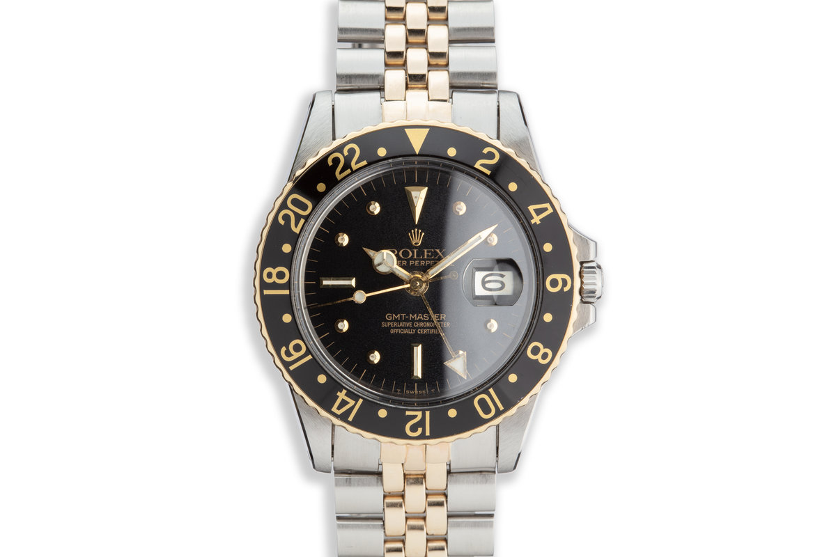 1965 Vintage Rolex Two-Tone GMT-Master 1675 with Black Nipple Dial photo, #0