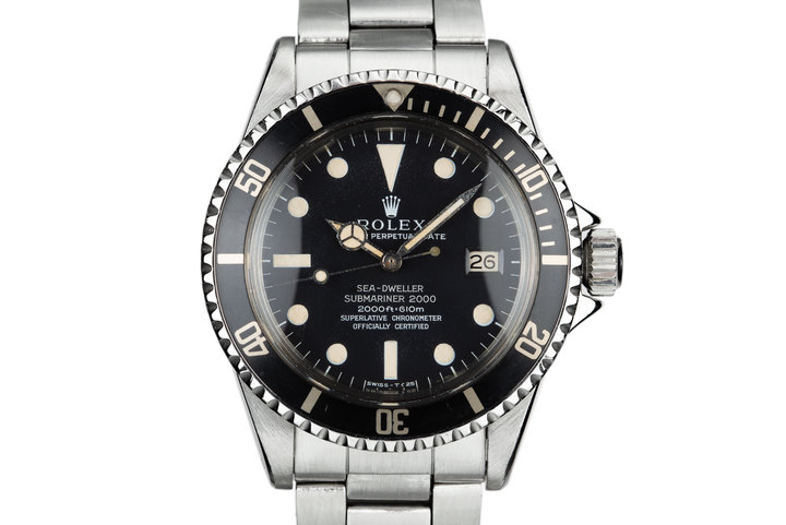 1967 Rolex Patent Pending Sea-Dweller 1665 with Mark 1 Double Red Dial photo