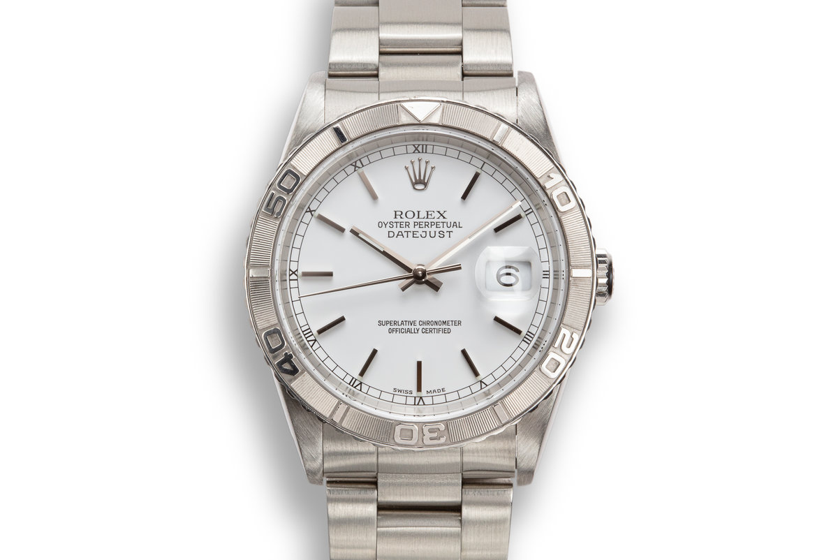 "2002 Rolex DateJust ""Thunderbird"" 16264 White Dial photo, #0"