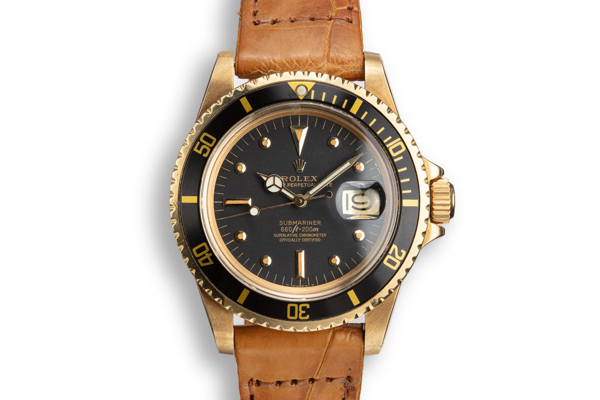 1978 Rolex 18K YG Submariner 1680 with Black Nipple Dial photo, #0