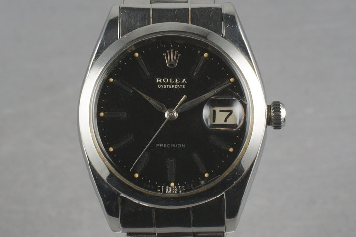 Rolex Steel Precision Oyster Date 6694 with gilt print photo
