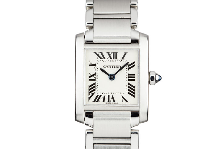 Cartier Ladies Quartz Tank W51008Q3 with Box photo