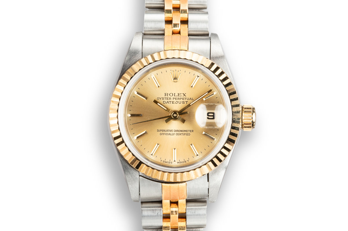 1996 Rolex Two-Tone Ladies DateJust 69173 Champagne Dial with Papers photo, #0