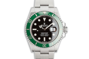 "2020 Rolex Green 41mm Submariner 126610LV ""Kermit"" with Box & Card photo"