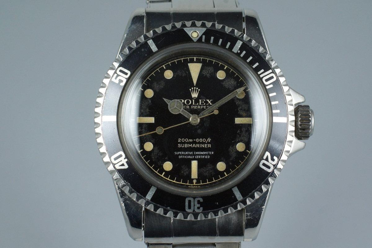 Hq Milton 1961 Vintage Rolex Submariner 5512 Pcg Gilt 4 Line