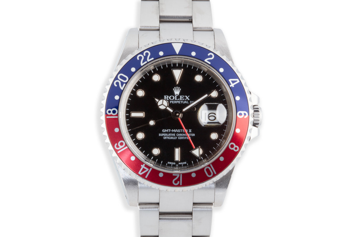 "2002 Rolex GMT-Master II 16710 ""Pepsi"" Bezel photo, #0"