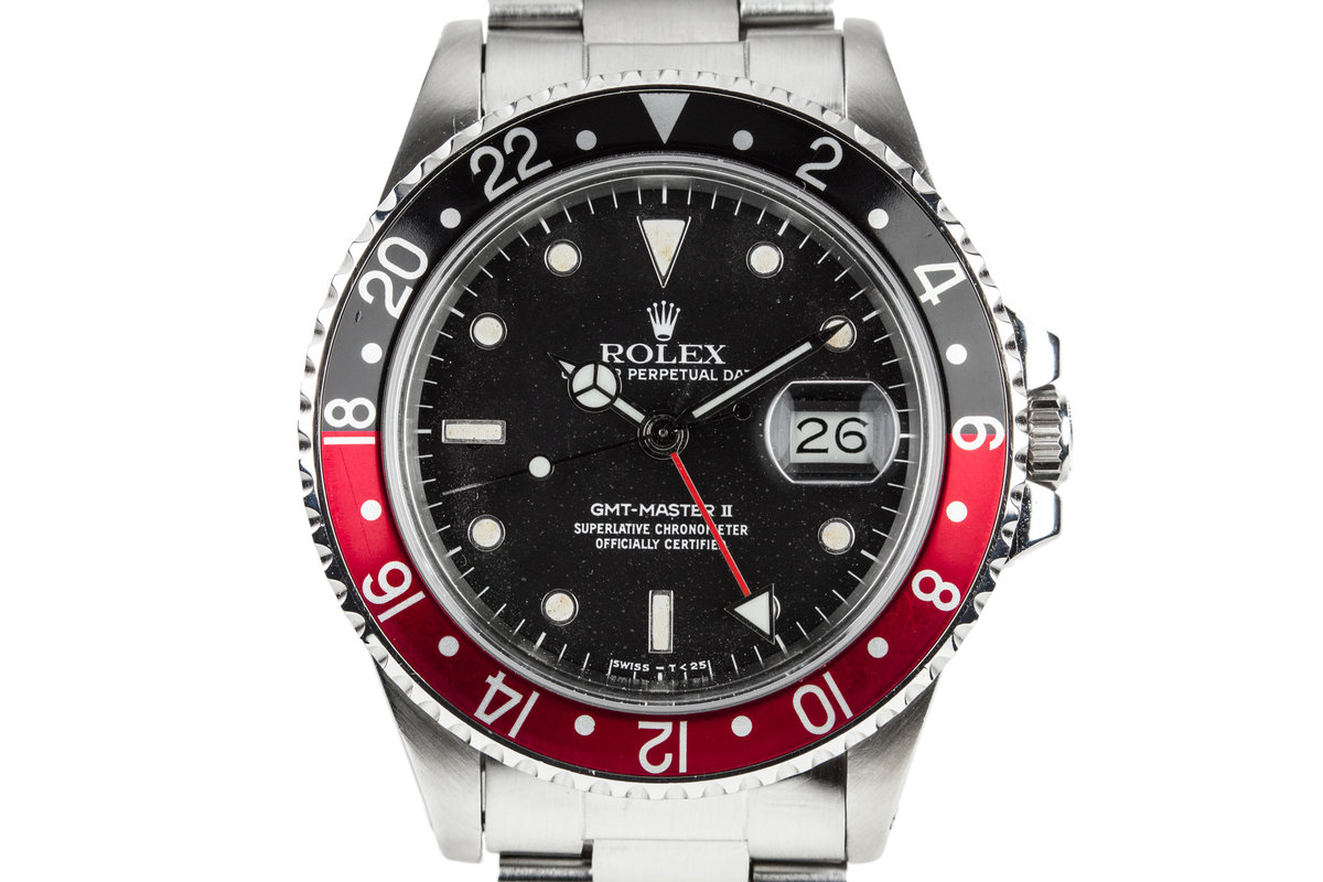 """1985 Rolex Fat Lady GMT-Master II 16760 with """"Star Dust"""" Dial and Box and Papers photo, #0"""