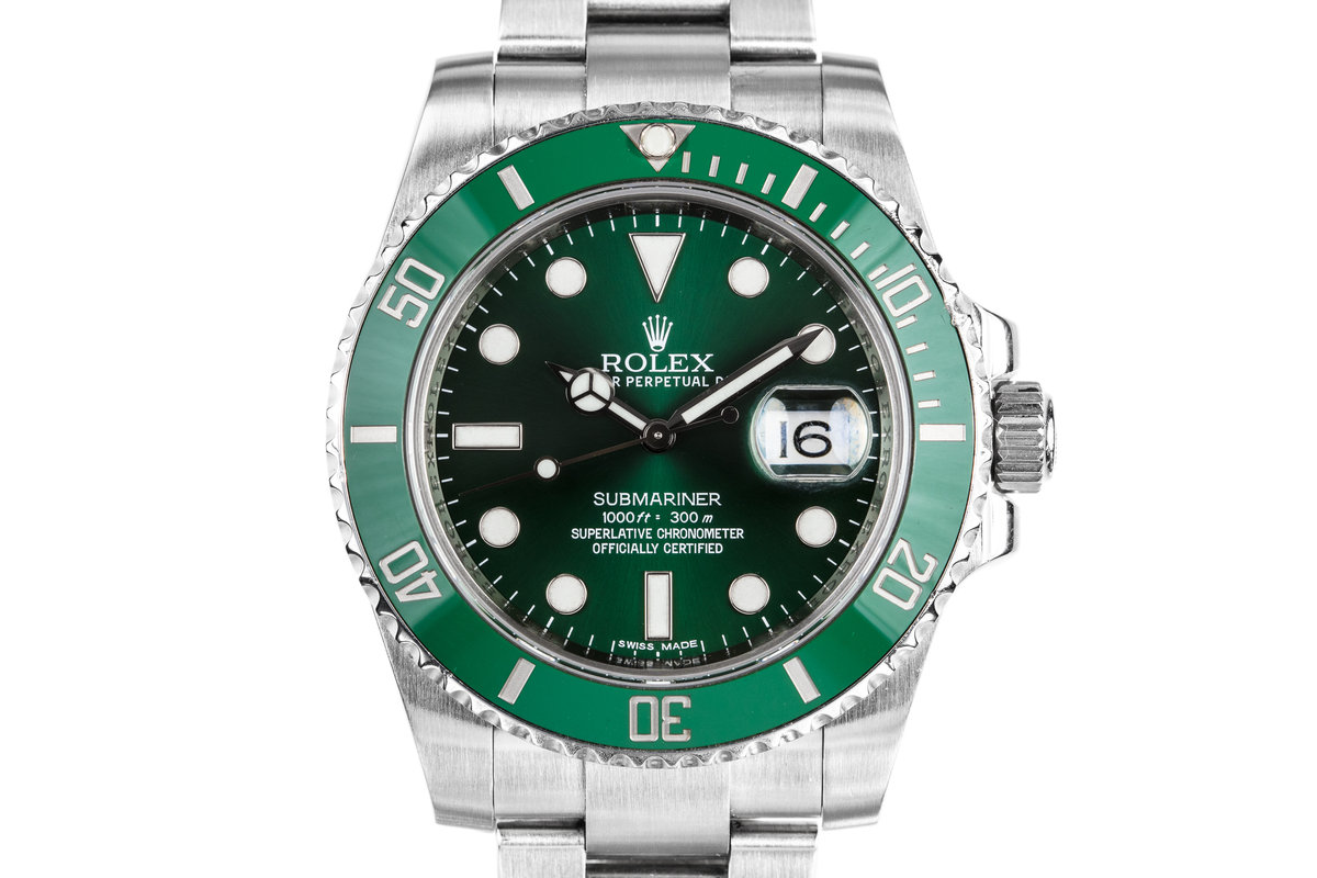 "2010 Rolex Submariner 116610V ""Hulk"" with Box and Papers photo, #0"