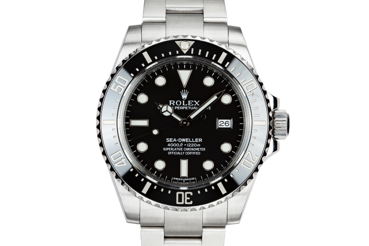 2015 Rolex Ceramic Sea-Dweller 116600 with Box and Papers photo, #0