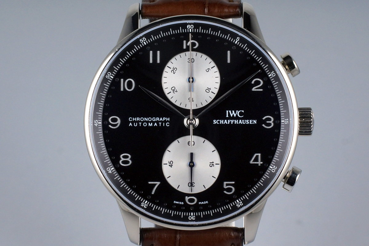 IWC 18K WG Portuguese Chronograph IW3714-13 with Box and Papers photo, #0