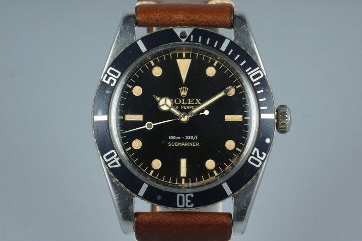 1958 Rolex Submariner 5508 Glossy Gilt Chapter Ring Dial photo