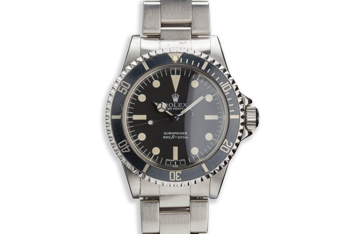 "1979 Vintage Rolex Submariner 5513 with MK 3 ""Lollipop"" Maxi Dial with Service Papers photo, #0"