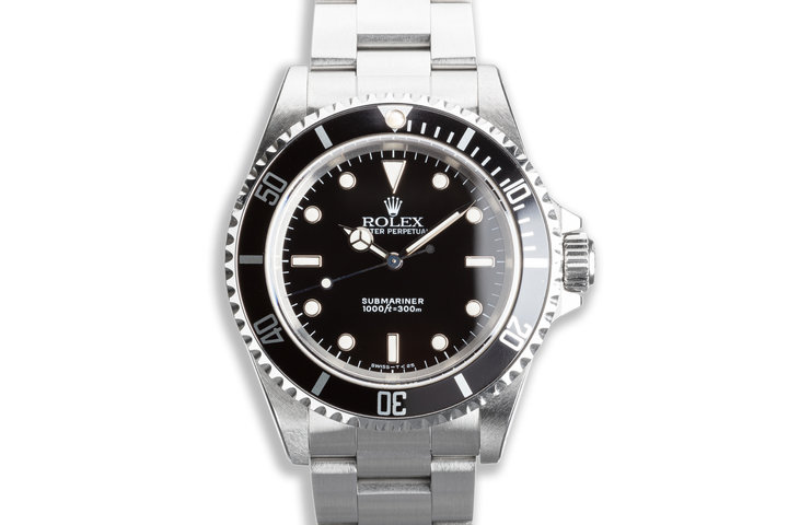 1991 Unpolished Rolex Submariner 14060 with Box & Papers photo