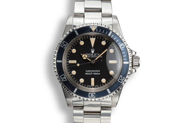 1982 Rolex Submariner 5513 MK IV Maxi Dial with Box and Papers photo