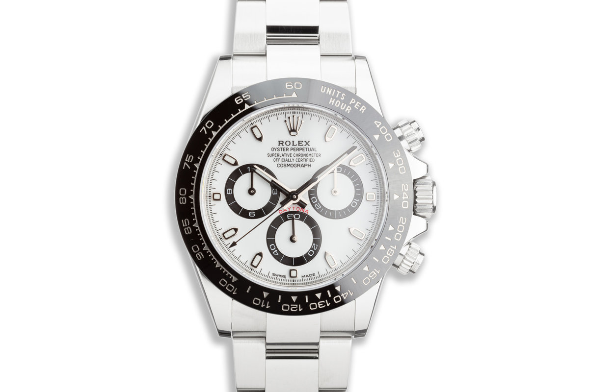 2018 Rolex Daytona 116500LN White Dial with Box and Card photo, #0