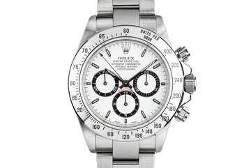 1999 Rolex Zenith Daytona 16520 White Dial with Box, Papers, and Service Papers photo