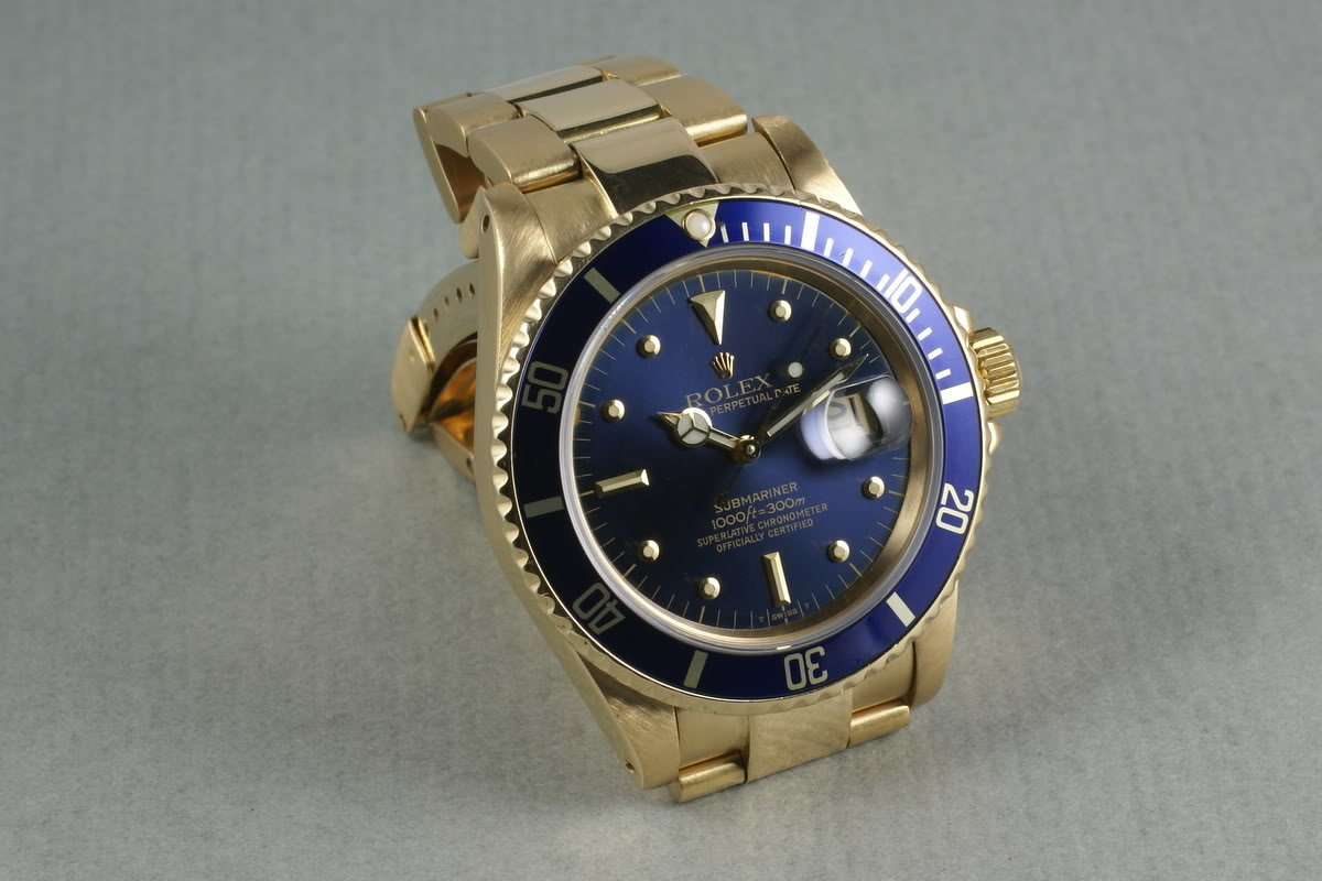 Rolex 18K Submariner Color Change Nipple Dial photo, #0