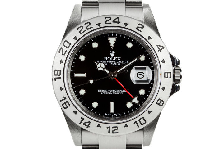 2005 Rolex Explorer II 16570 Black Dial photo