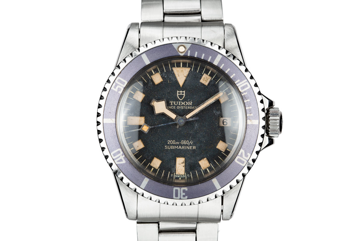 "1974 Tudor Snowflake Submariner 9411/0  ""Stone"" Dial with Lavender Bezel Insert photo, #0"
