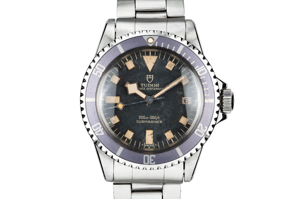 "1974 Tudor Snowflake Submariner 9411/0  ""Stone"" Dial with Lavender Bezel Insert photo, #0"