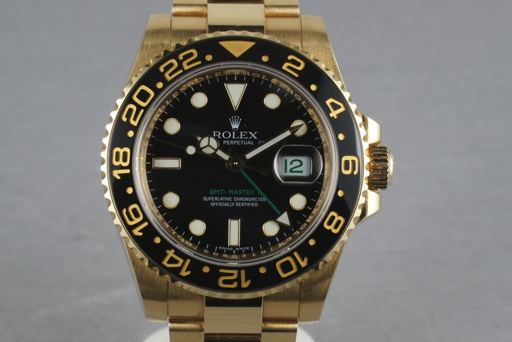 Rolex Ceramic GMT 18K 116718 with box and papers photo