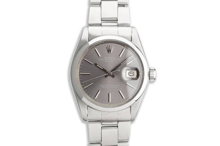 1972 Vintage Rolex Date 1500 Gray Sigma Dial photo