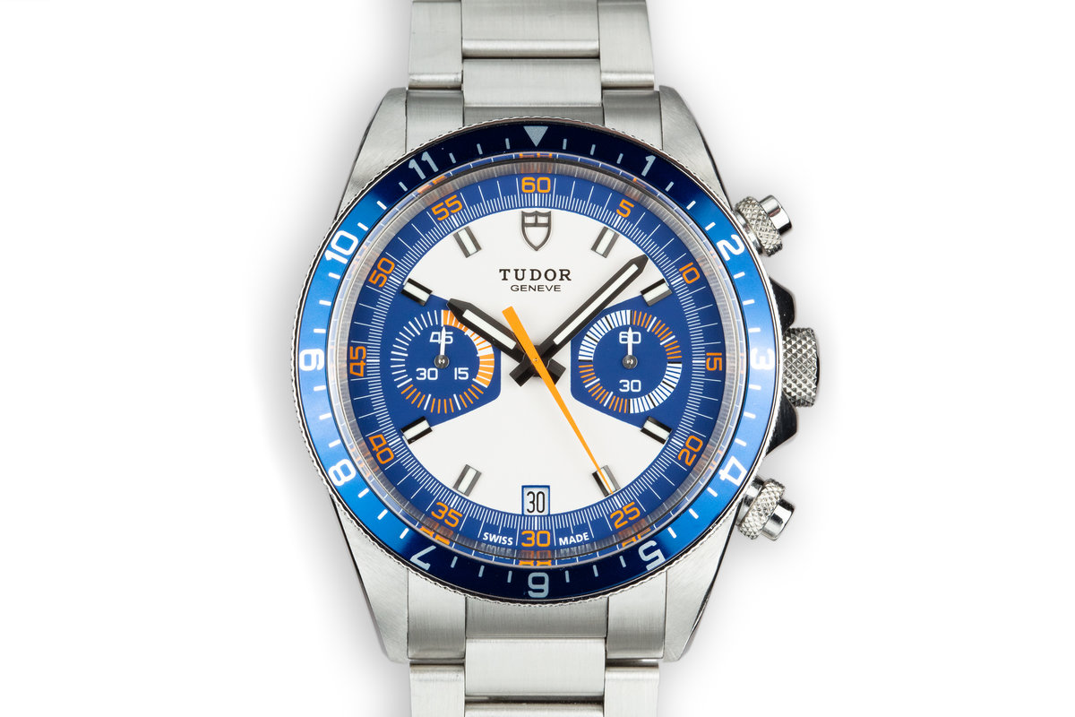 Tudor Heritage Chrono 70330 Blue Dial With Box photo, #0