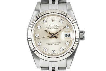 1991 Rolex Ladies DateJust with SIlver Diamond Dial photo