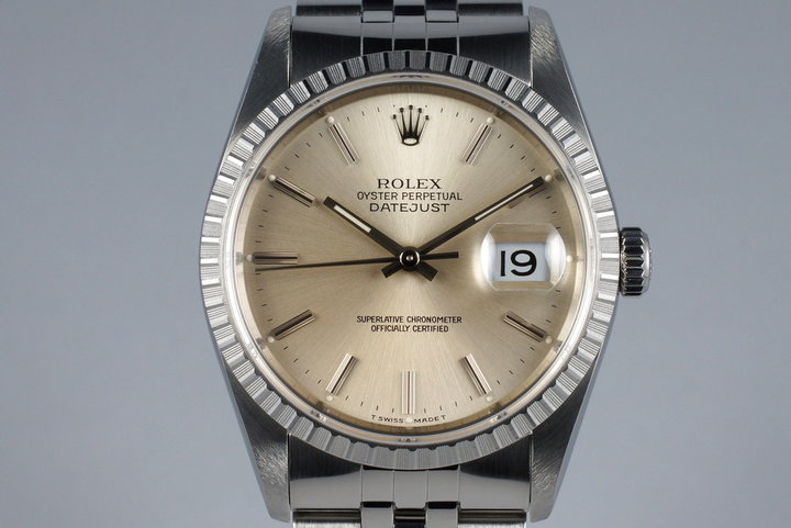 1991 Rolex DateJust 16220 Silver Dial with RSC Papers photo