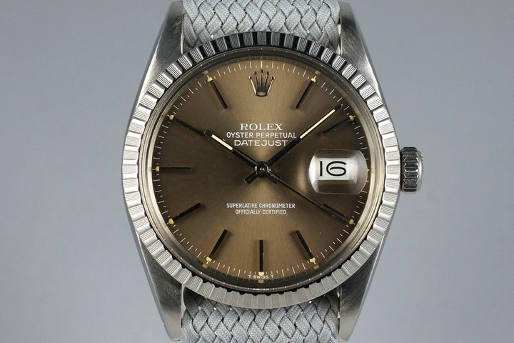 1986 Rolex DateJust 16030 Brown Dial photo