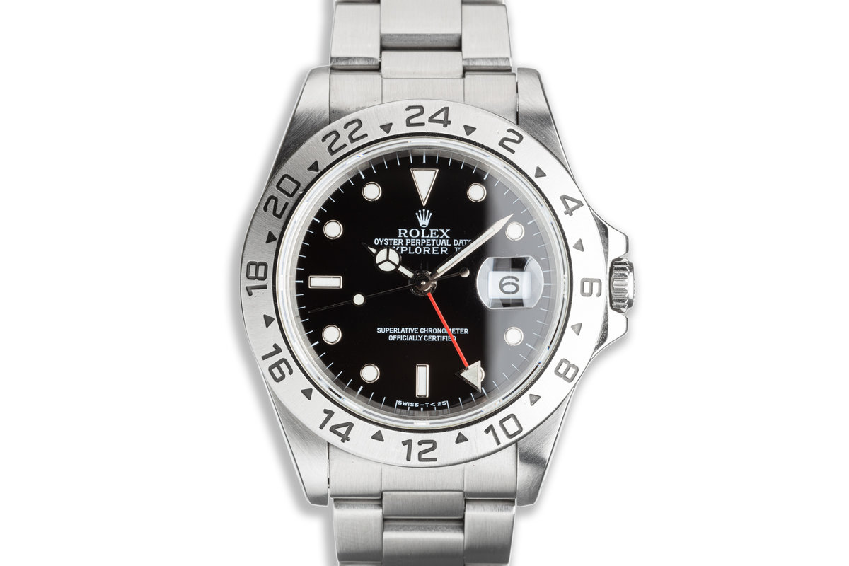 1998 Rolex Explorer II 16570 Black Dial with Box & Papers photo, #0