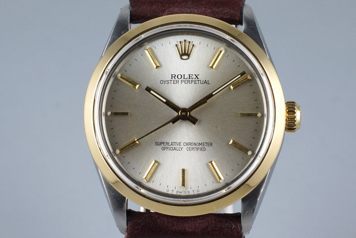 1988 Rolex Two Tone Oyster Perpetual 1005 photo