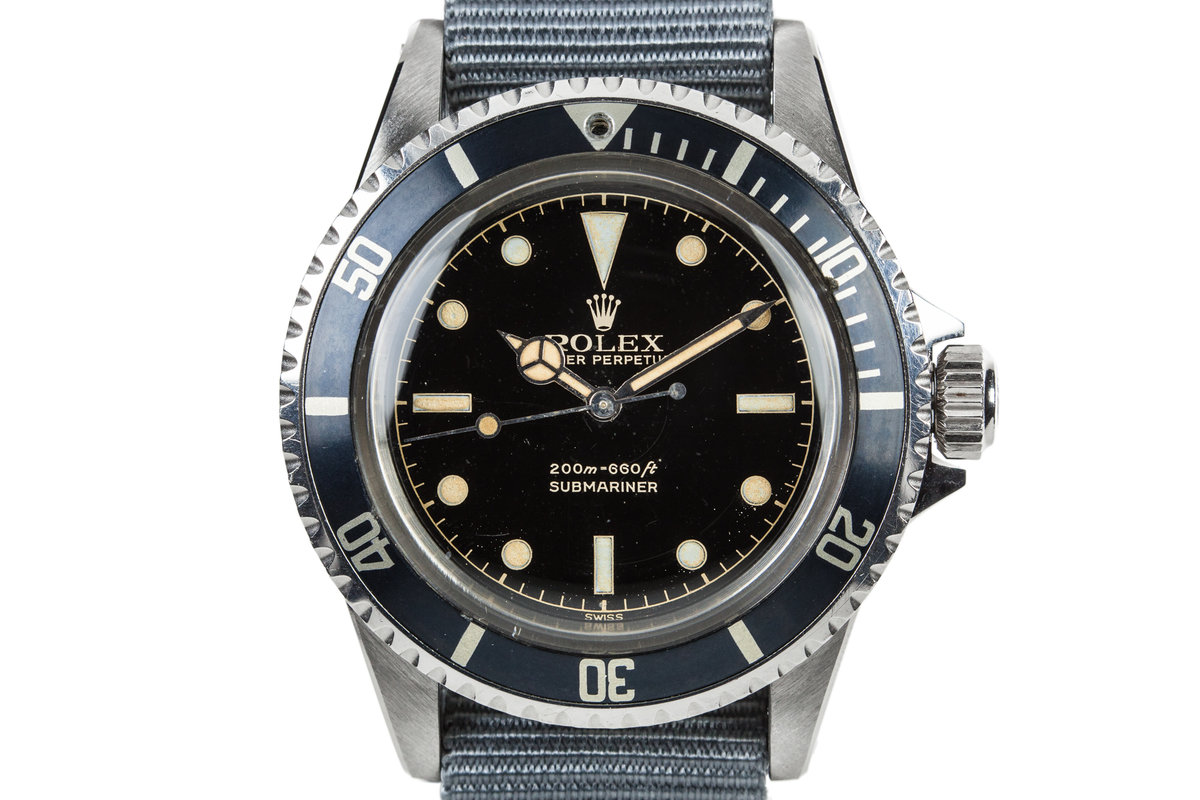 1962 Rolex Submariner 5512 PCG with Gilt Glossy Chapter Ring Dial photo, #0