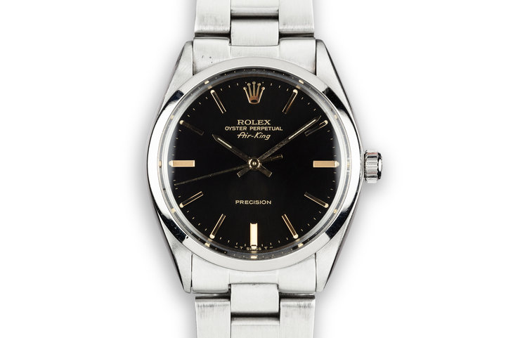 1981 Rolex Air-King 5500 Black Dial with Service Papers photo
