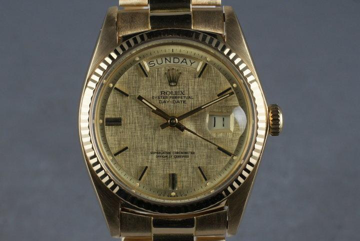1972 Rolex Vintage 18K YG President 1803 photo