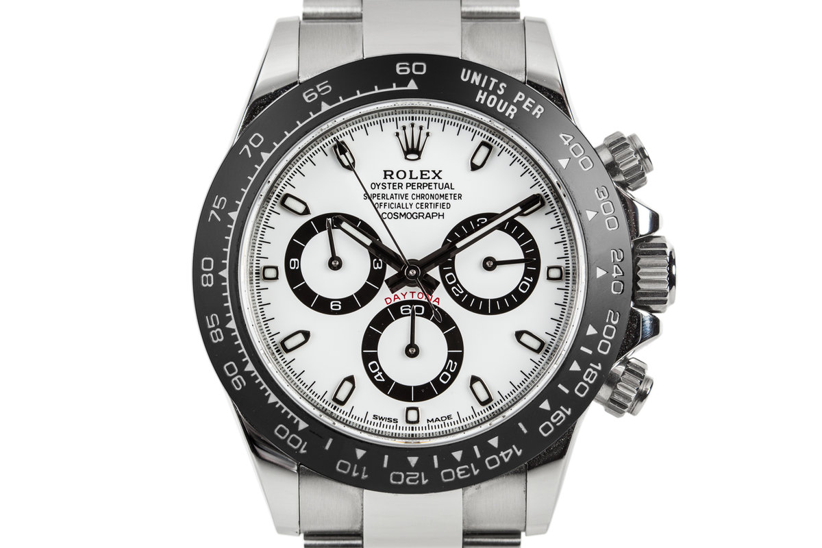 2017 Rolex Daytona 116500 White Dial with Black Ceramic Bezel and Box and Papers photo, #0