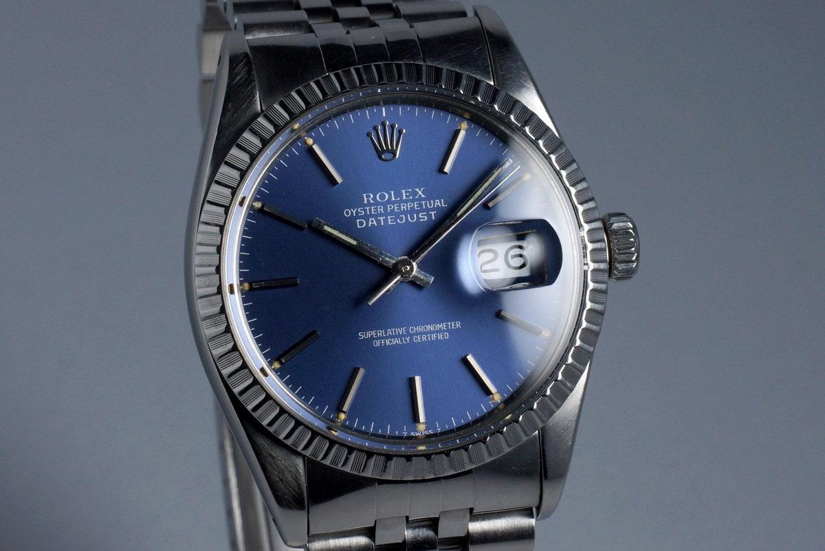 e9371e035747a HQ Milton - 1984 Vintage Rolex DateJust 16030 with Blue Dial ...