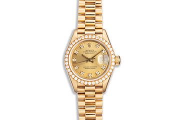 1990 Rolex Ladies President 69138 with Factory Diamond Bezel & Dial photo