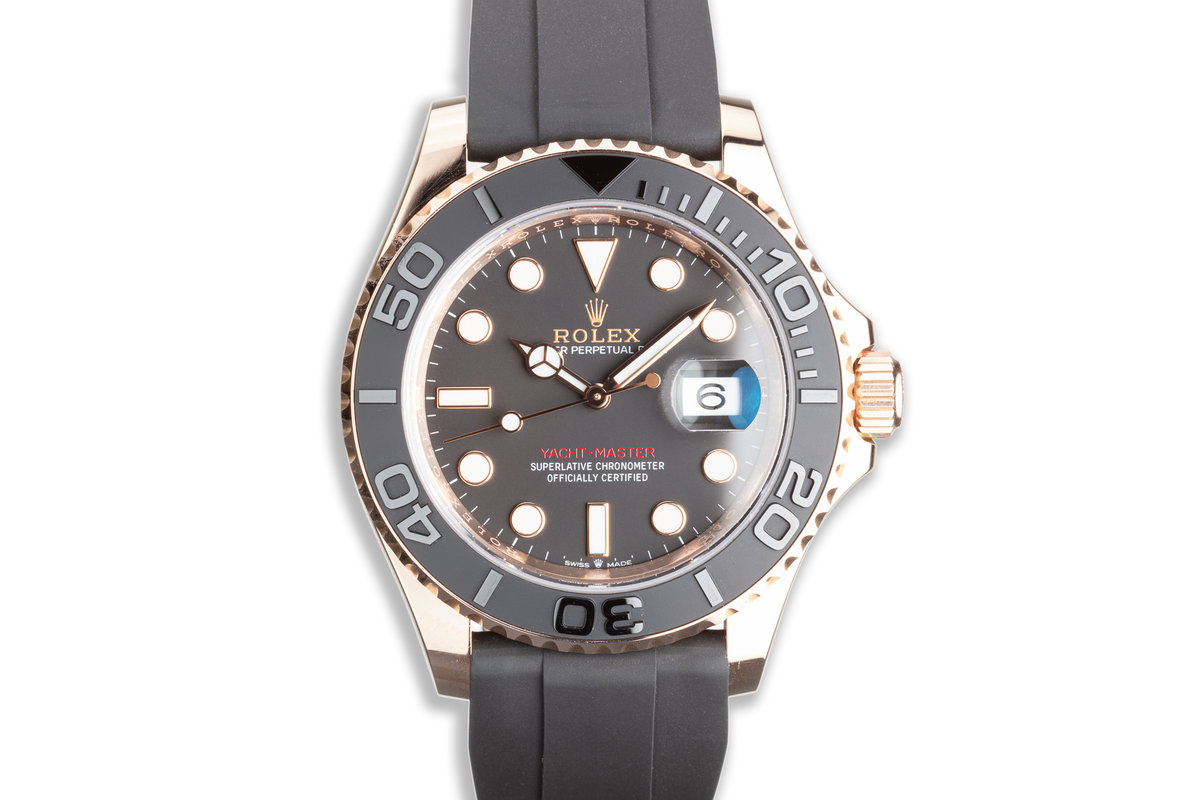 2020 Everose Rolex Yacht Master 126655 with Oysterflex Box & Card photo, #0