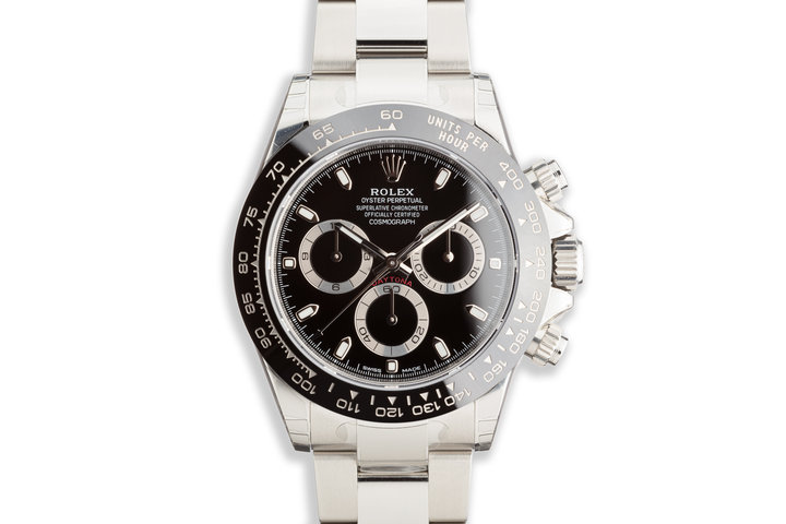 2020 Rolex Daytona 116500LN Black Dial Fully Stickered with Box and Card photo